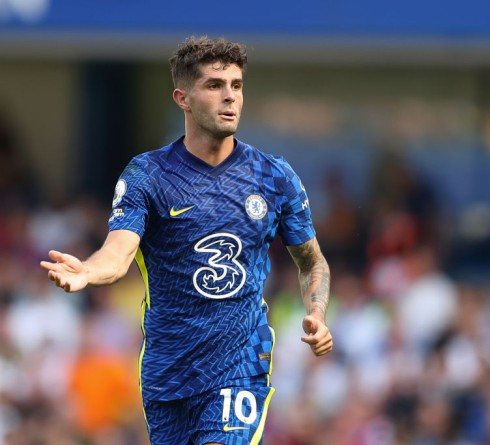 LONDON, ENGLAND - AUGUST 14: Christian Pulisic of Chelsea during the Premier League match between Chelsea and Crystal Palace at Stamford Bridge on August 14, 2021 in London, England. (Photo by James Williamson - AMA/Getty Images)